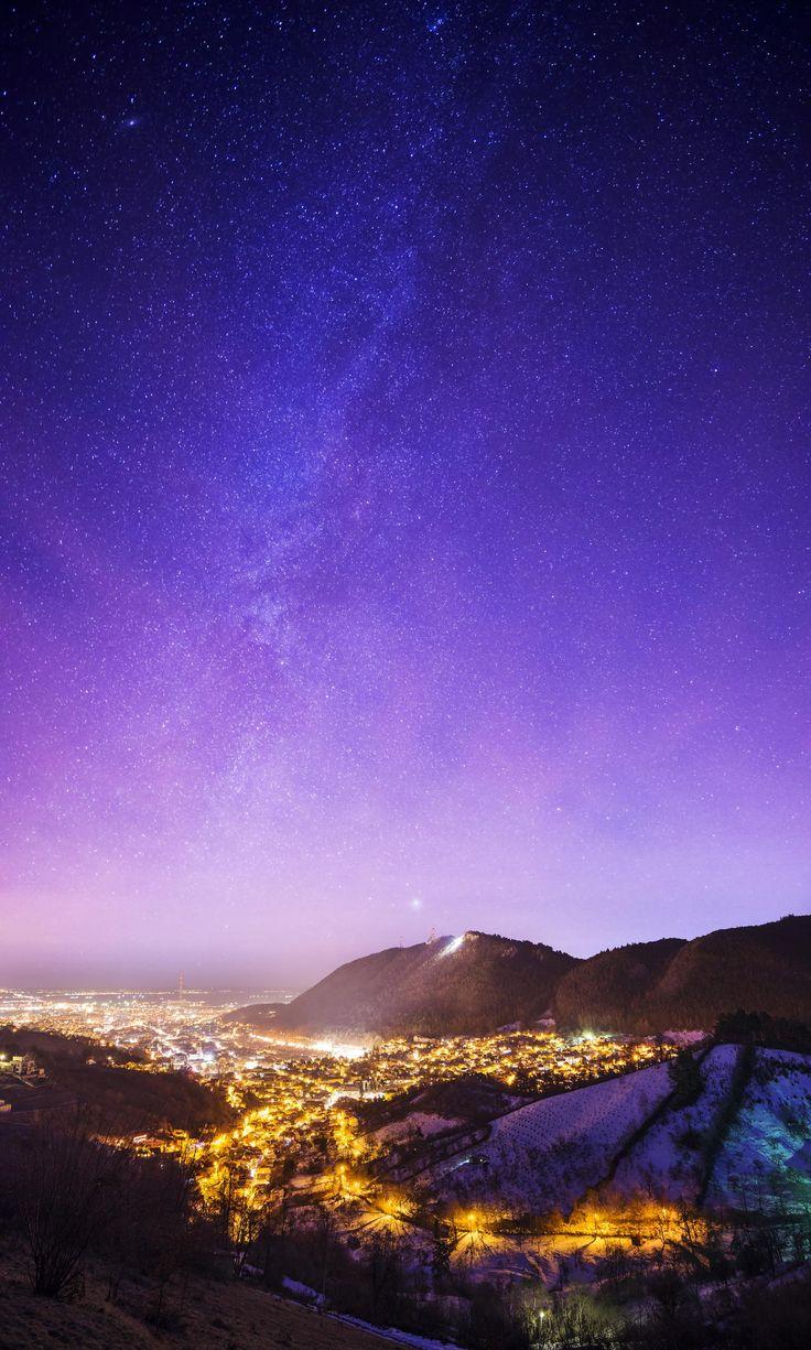 Night over Brasov, Romania