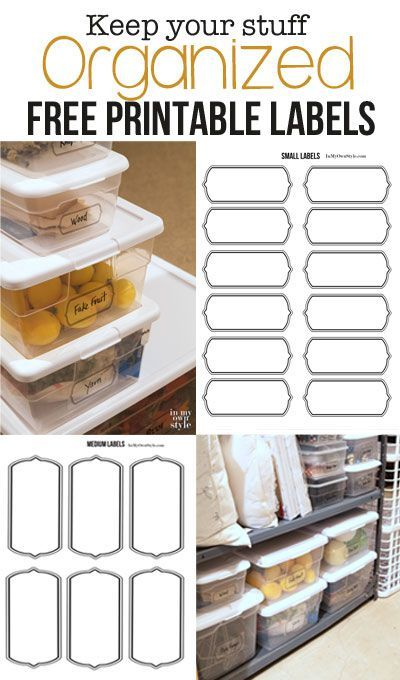 FREE Printable Labels for Storage Bins. Learn How I Decluttered and Organized my Basement.