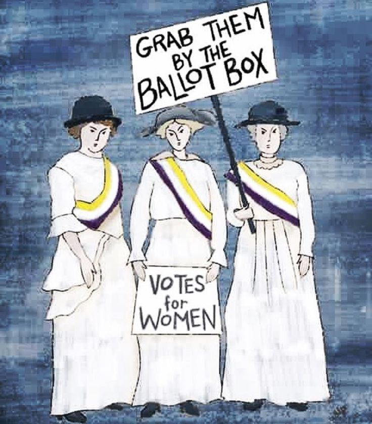 Proud to be a woman with the freedom to vote and thankful for the women who fought and died to for my right to do so!