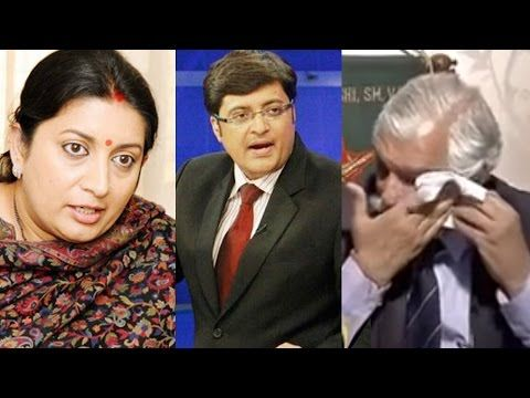 #SmritiIrani Pays A Touching Respect To Retired Soldier #GDBakshi During Live TV Debate | Firefly Daily #arnabgoswami