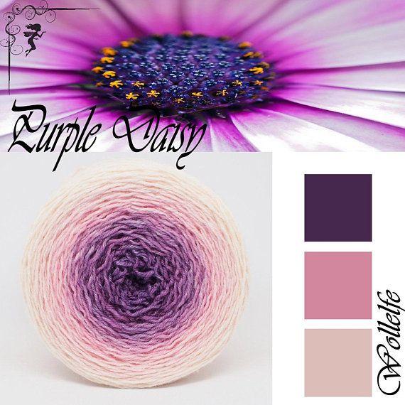 Merino Silk Cashmere hand dyed fingering weight Gloria Dei* gradient yarn