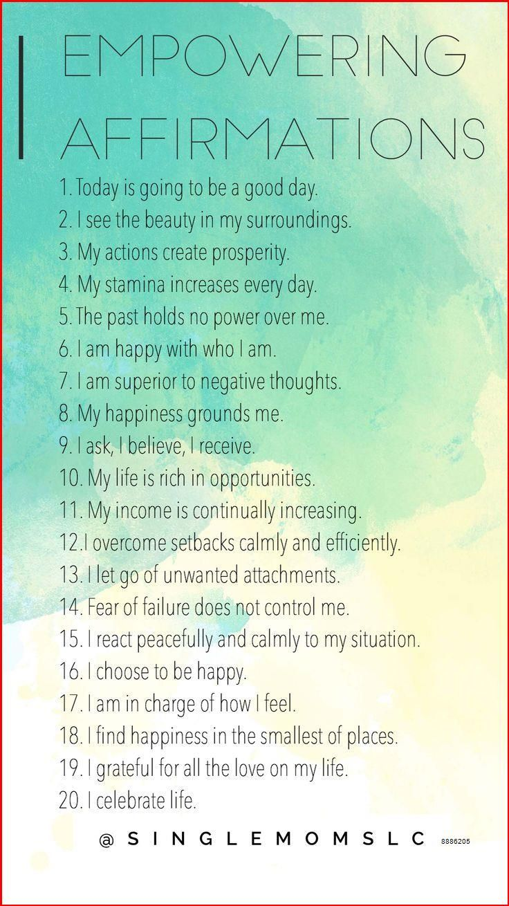 What Are Some Good Positive Affirmations