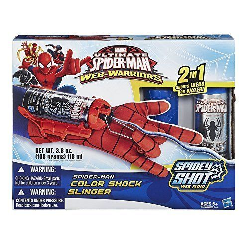 Marvel Ultimate Classic Spider-Man Web Warriors Colour Shock Slinger - Great present especially for boys!!