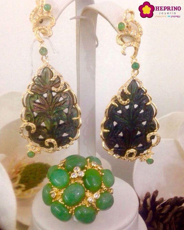 air jordan 1 retro black gold patent leather Hermoso set de aretes y anillo con detalles cl  sicos y elegantes  en una tonalidad simplemente seductora   HeprinoJoyeria  Jewelry  JustForYou