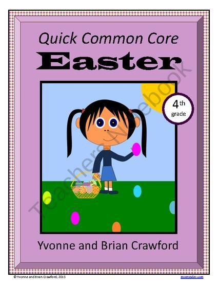 For 4th grade - Easter Quick Common Core is a packet of ten different math worksheets featuring an Easter theme. $    Happy Sharing. PIN, Repin