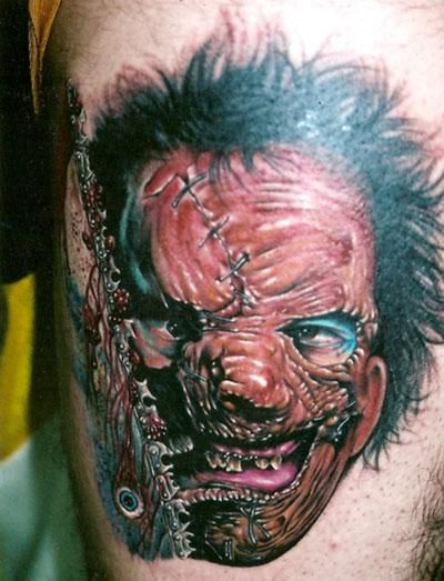 Leatherface from The Texas Chainsaw Massacre tattoo