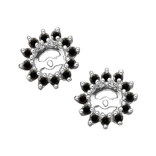 1/2 ct. tw. Black Diamond Earring Jackets in 14K White Gold Security Jewelers. $425.00
