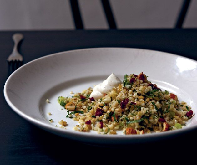 Cracked wheat and freekeh salad with preserved lemon and barberries from Andrew McConnell's Cumulus Inc.