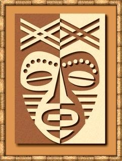 African Mask Lesson - Pos / Neg Space Great link to other wonderful lesson ideas that incorporate art history.