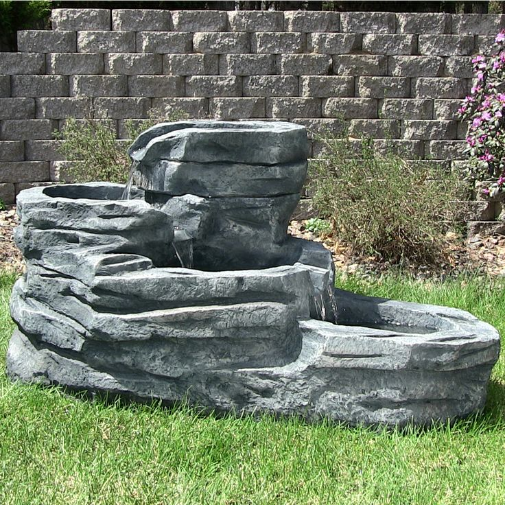 Outdoor Classics Cascading Brook Fountain with LED