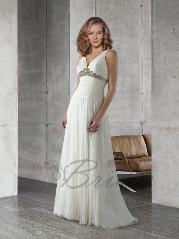 Low V Neck Sexy Plus Size Wedding Gown Uk V Neck Wedding