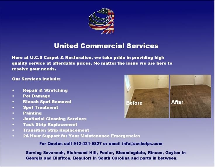 Affordable High Quality Service From United Commercial Services Serving All Of Savann Janitorial Cleaning Services Janitorial Cleaning Carpet Cleaning Service