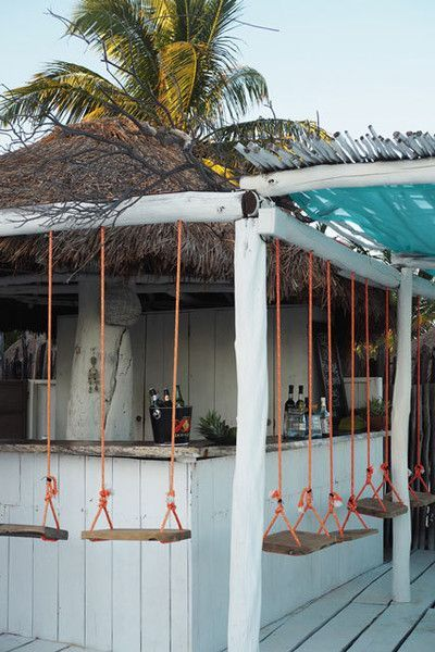 Bar Swings In 2019 Tulum Beach Bars Outdoor