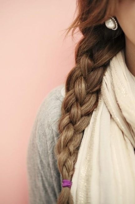 Love this  <3: Hairstyles, Four Strands Braids, Long Hair, Sailors Knot Braids, Hair Style, Side Braids, 4 Strands Braids, Sailorsknot, Earrings