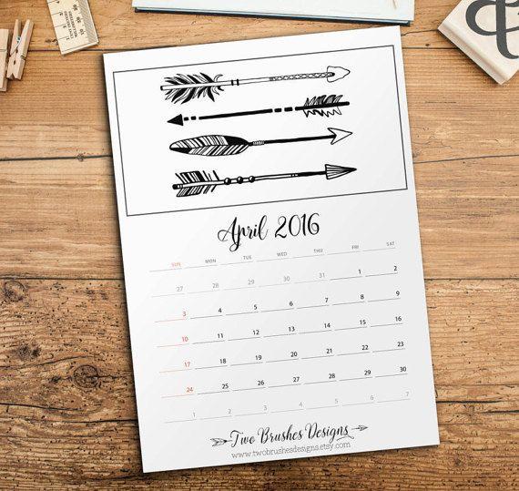 Diy Tumblr Calendar : Wall calendar printable