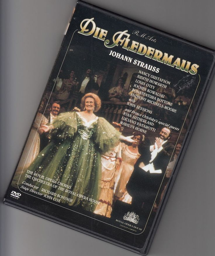 DIE FLEDERMAUS, Johann Strauss. Joan Sutherland, Luciano Pavarotti, Marilyn Horne. John Sessions. The Royal Opera Chorus. The Orchestra of the Royal Opera House. Region code 1 plays on all US DVD players. | eBay!