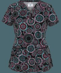 Nurse Mates Scrubs Regina Print Top