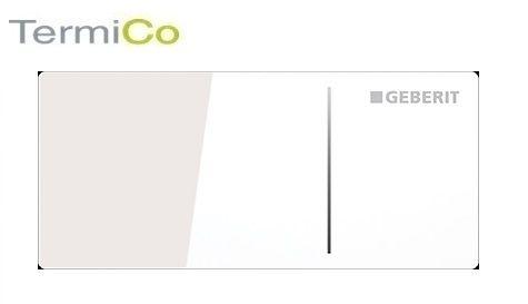 Geberit Omega 70 zdalny przycisk spłukujący szkło białe 115.084.SI.1