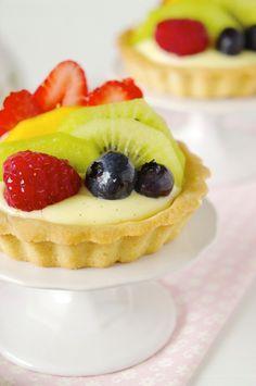 Tortinhas de frutas frescas   Vídeos e Receitas de Sobremesas