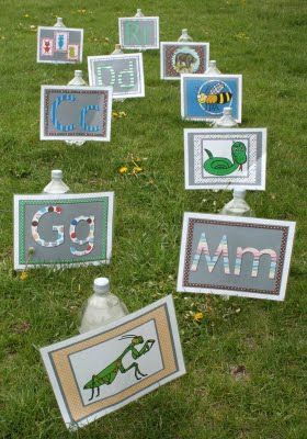 water gun targets using letters