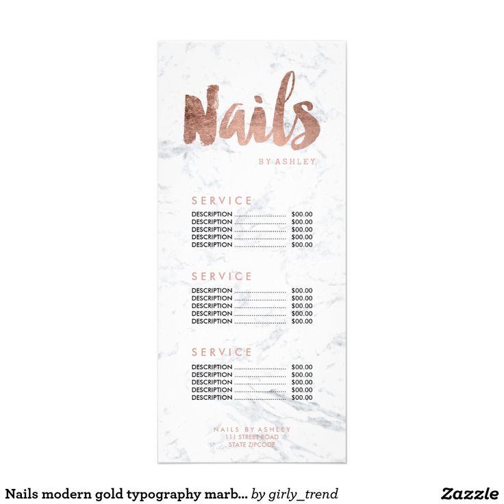 22 best price list images on pinterest price list carte de visite nails modern gold typography marble price list rack card colourmoves