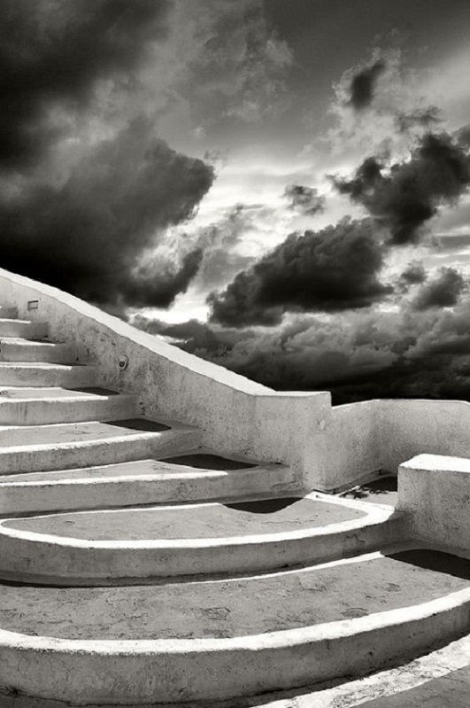 All Art  Stairs To The Clouds... Santorini, Greece