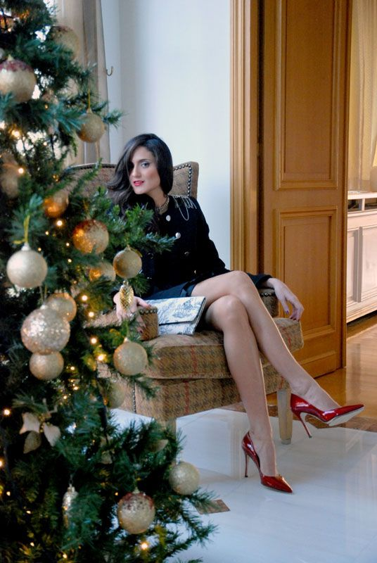 Waiting for #santa on today's #outfit post! Enjoy it :) #supportgreekfashion