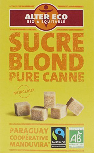 Alter Eco Sucre Blond Pure Canne en Morceaux Bio et Equitable 500 g – Lot de 3: Cet article Alter Eco Sucre Blond Pure Canne en Morceaux…