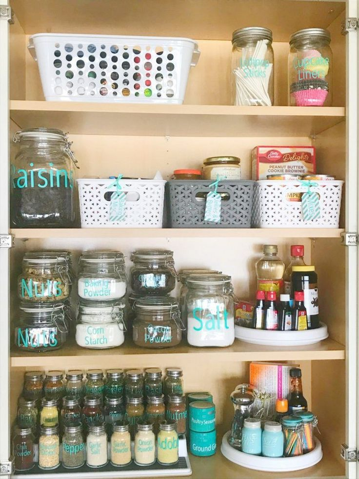 Easy Ways To Organize Your Shared Kitchen | Spice cabinet ...