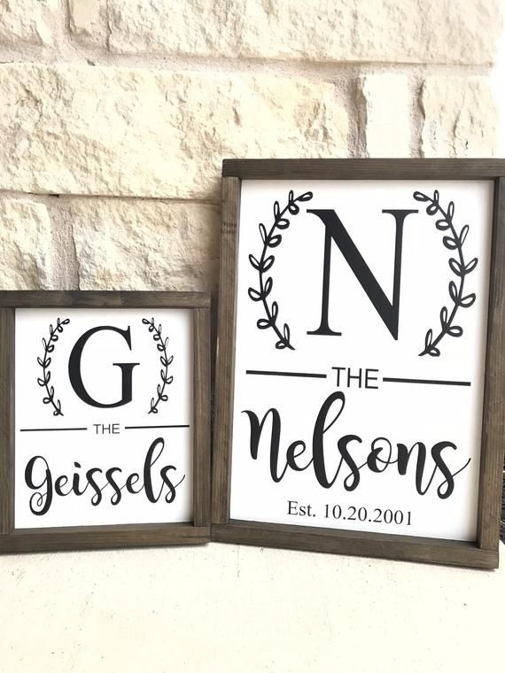 Rustic Personalized Family Name Sign Pallet Wood Monogram Wood 16x16