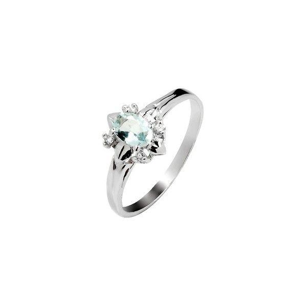 .5 Carat Beautiful solitaire Aquamarine Engagement Ring for women