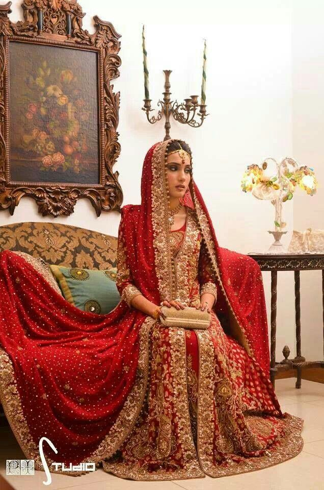 So beautiful! South Asian Pakistani bridal wedding dress                                                                                                                                                                                 More