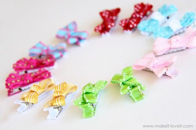 Instructions for 15 different kind of hair bows to make.