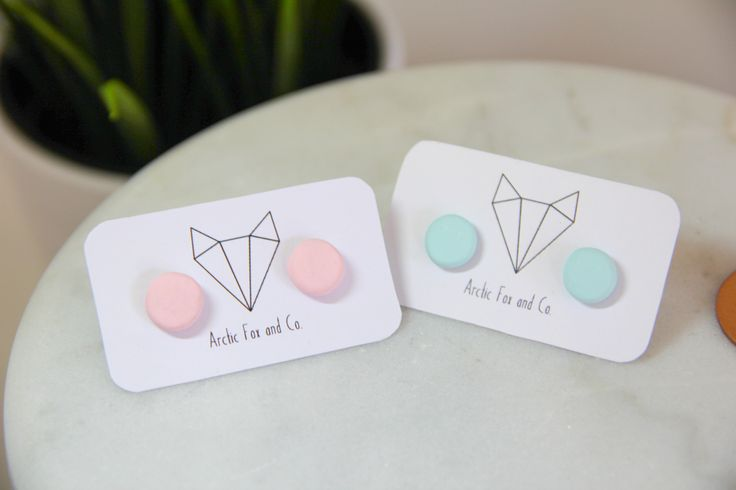 Handmade round pastel polymer clay earrings