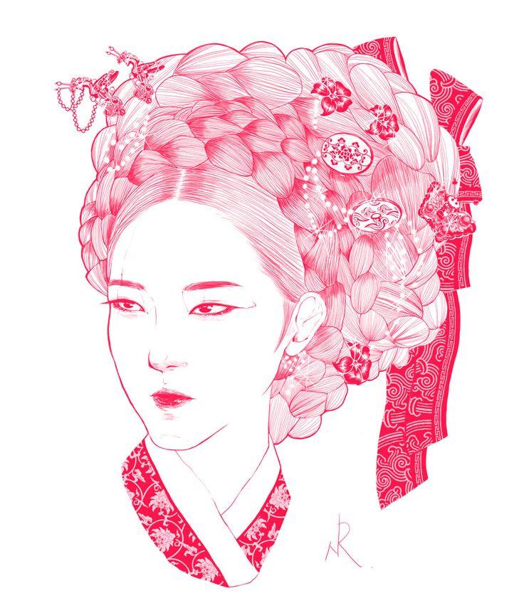 korea girl illustration