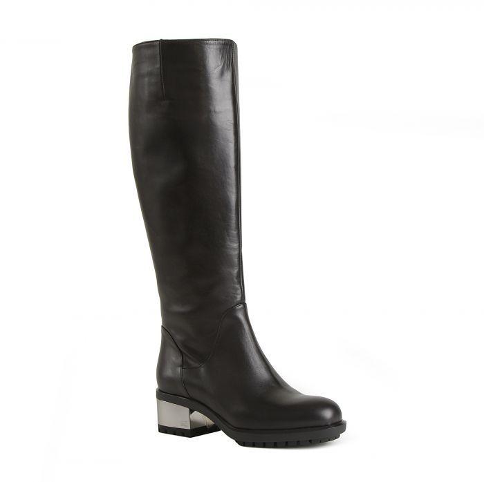 Angelo Giannini Кожаные черные сапоги с высоким голенищем от бренда Angelo Giannini