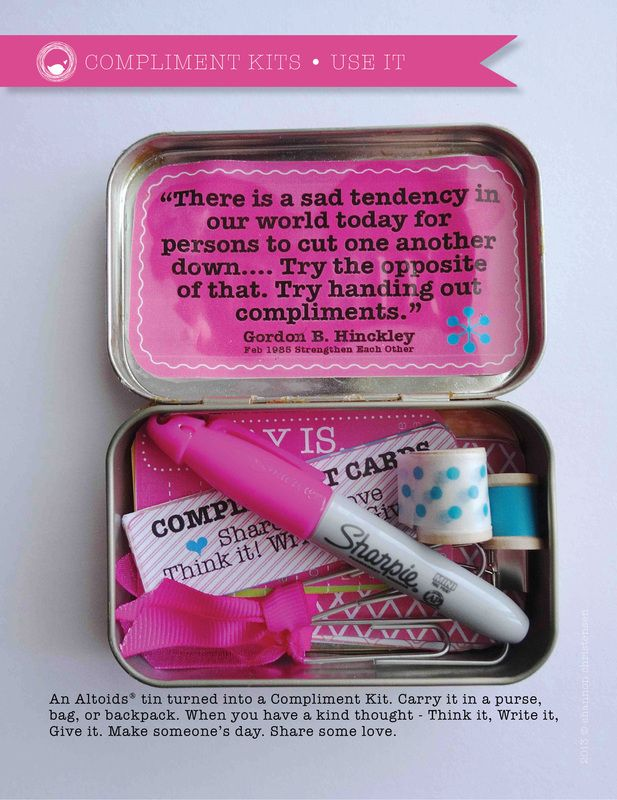 Make a compliment kit- I kind of like this idea!