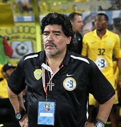 Maradona at 2012 GCC Champions League final.JPG