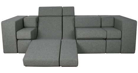 Sofa beds sneak two functions into one piece of furniture, but these designs go beyond the binary 'convertible couch' typology to be completely modular, comfortable for sitting up, laying back or lying down in any number of custom configurations.