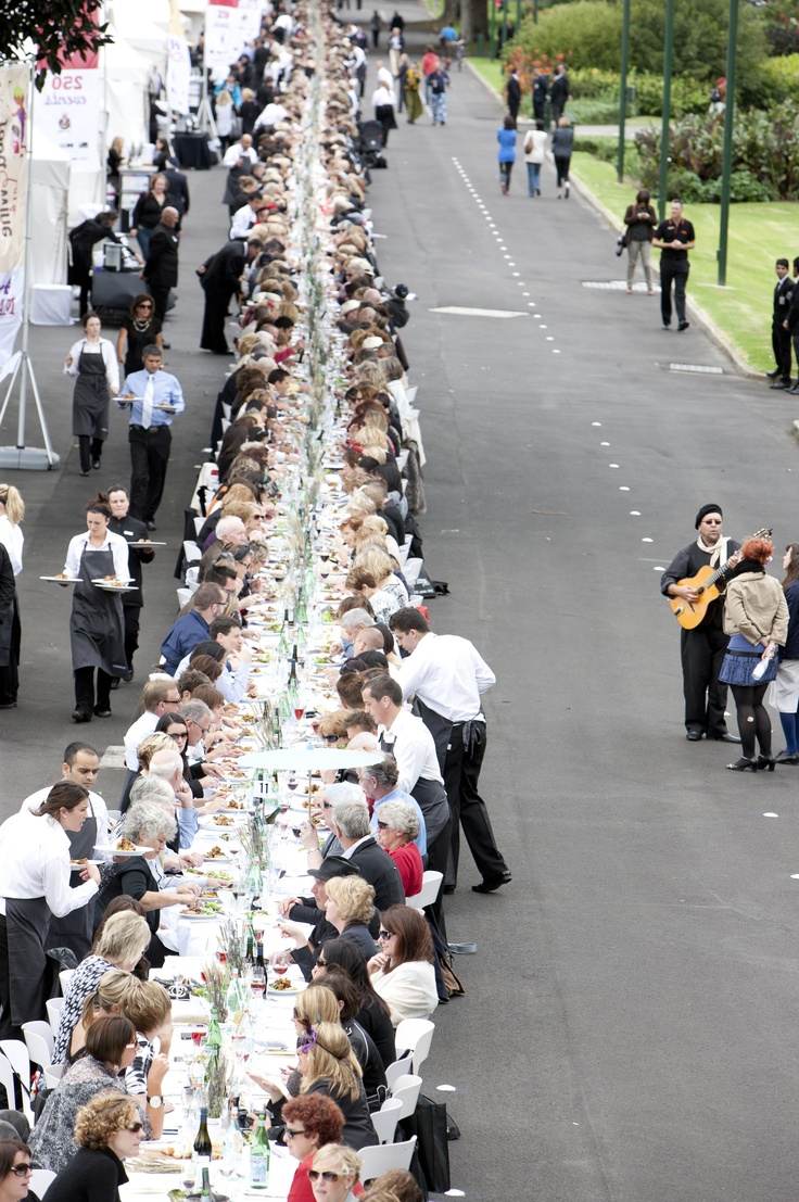 And showcasing the best of Melbourne's restaurants is our Food & Wine Festival. Melbourne, Longest Lunch in March is just another way to enjoy the dining culture  culture here.