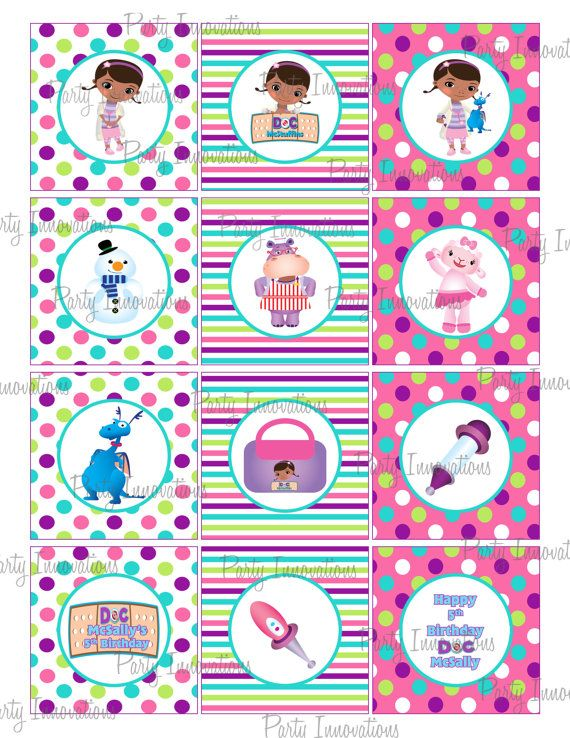 Printable Doc McStuffins Cupcake Toppers. $5.00, via Etsy.