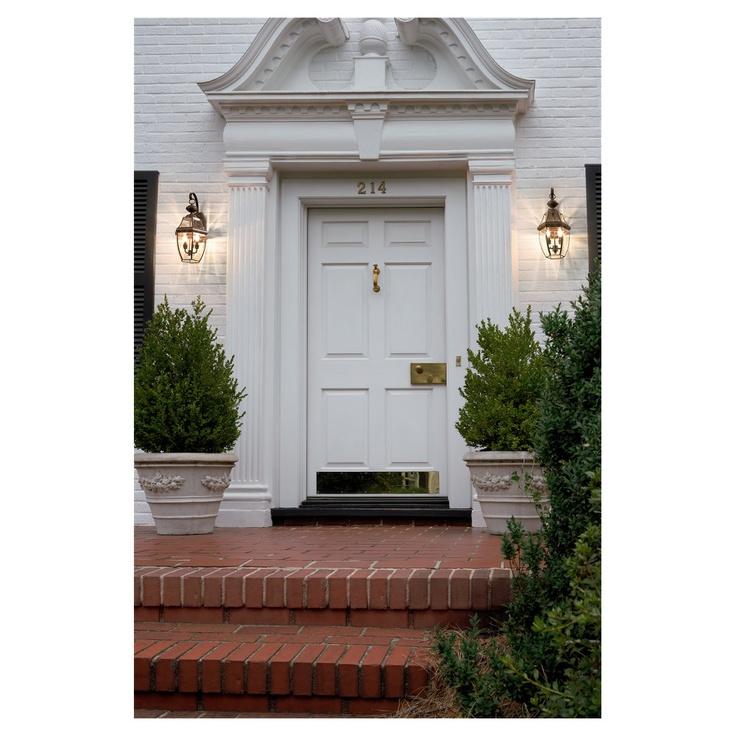 49 best outdoor lighting ideas images on pinterest exterior sea gull lighting lancaster bronze outdoor wall lantern two light lancaster bronze wall lantern brown brass aloadofball Images