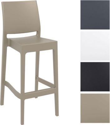 Barhocker MAYA, stapelbar, Sitzhöhe 75 cm, Kunststoff Tresenhocker mit Rückenlehne, Outdoor-Thekenhocker, Bistro-Stuhl für Innen- / Außen-Bereich Jetzt bestellen unter: https://moebel.ladendirekt.de/garten/gartenmoebel/gartenstuehle/?uid=5b347473-3bd9-56de-8a0f-03476350d8b0&utm_source=pinterest&utm_medium=pin&utm_campaign=boards #stehtische #garten #gartenmoebel #gartenstuehle