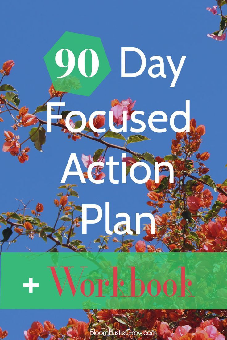 The 90 Day Focused Action Plan for Entrepreneurs. Get focused for the next 90 days in your business. Grab your free 90 day focused action planning worksheet to keep you on target with your business. Are you struggling with focus in your business? This pos