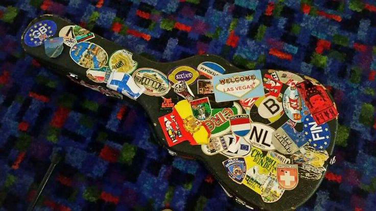 My guitar case reminding me that music has taken me around the world & regardless of whether I'm singing or speaking, the stage is where I need to be...