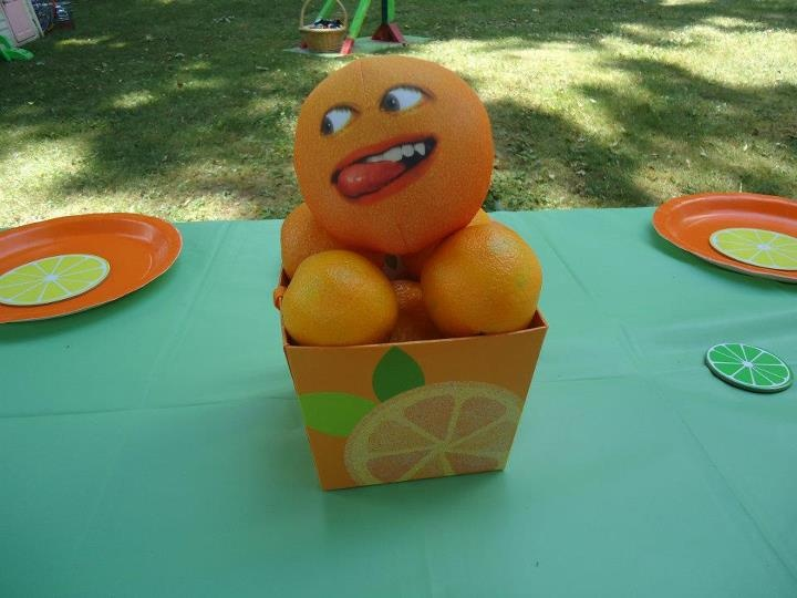 Annoying Orange Themed Birthday Center Piece Party