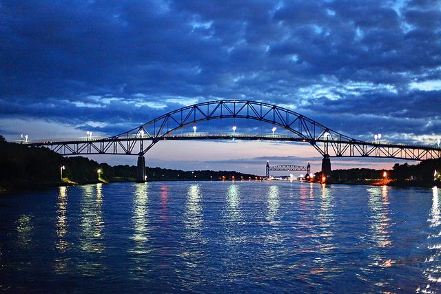 Bourne Bridge and the Cape Cod Canal. This is the other bridge.