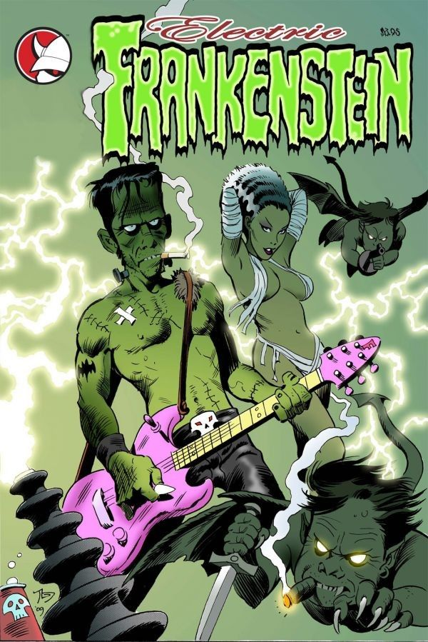 low brow art frankenstein | electric frankenstein rock n roll trash culture and low brow art ...