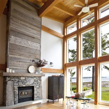 Using reclaimed wood, whether pallets, reclaimed flooring, or even fencing,  allows you - 25+ Best Ideas About Reclaimed Wood Fireplace On Pinterest