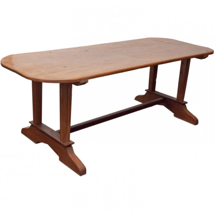 Rustic Dining Table Made Of Solid Molave Wood With Single